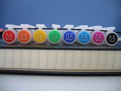 MUJI color Pen Rainbow with Moleskine