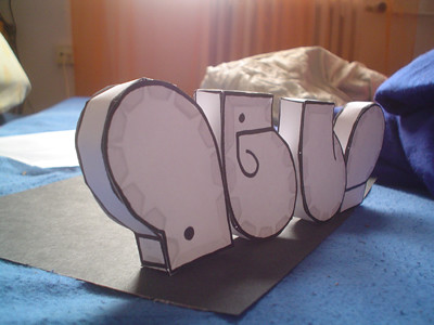 gebastelt deli 3d graffiti paper model cut out fold and glue