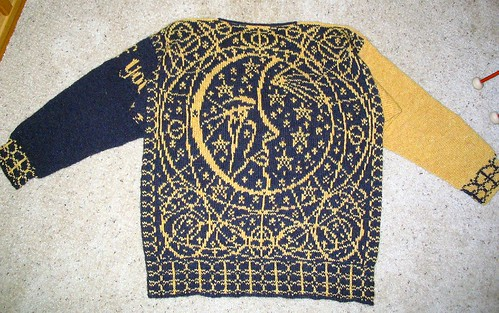 Knitting With Two Colors Meg Swansen : Ravelry weeping sun and moon pattern by meg swansen