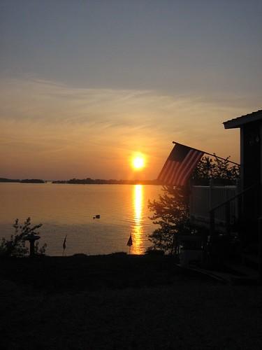 sunset lake 2006 champlain jul vt stalbans vttrip havarest stalbansbay