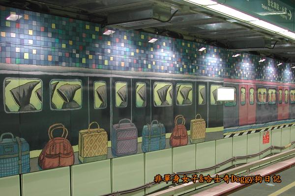 南港車站幾米彩繪05