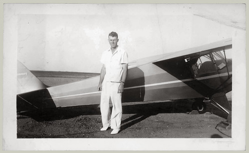 Man and light plane