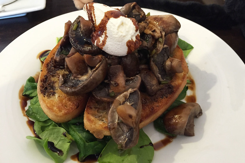 Mushrooms on toast, at Keil's