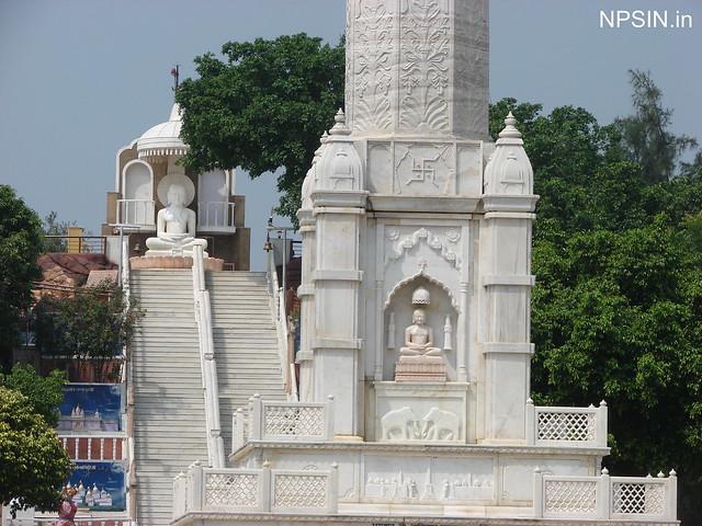 Bhagwan Adinath Mandir and Manasthamb