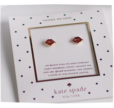Kate Spade Lips Earrings