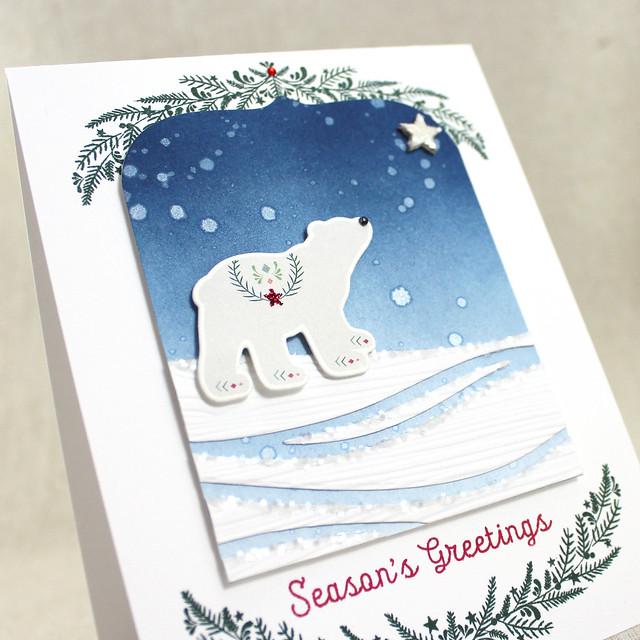 Polar Bear Season's Greetings Close Up