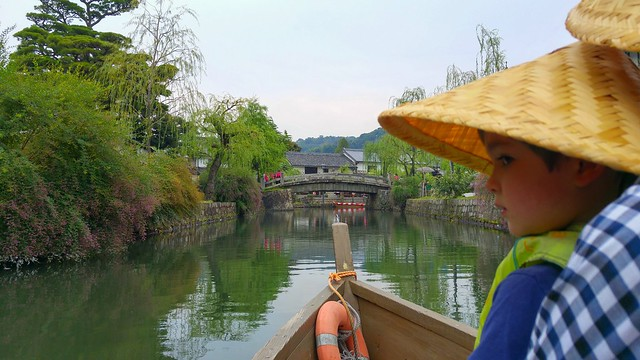 We went for a boat ride on the canal! Bikan quarter, Kurashiki