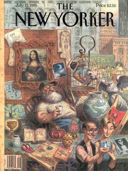 15j03 New Yorker y la Gioconda by Peter de Sève
