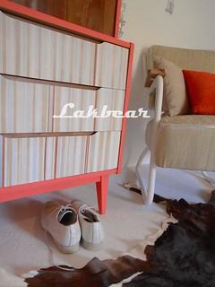 Striped retro style wardrobe