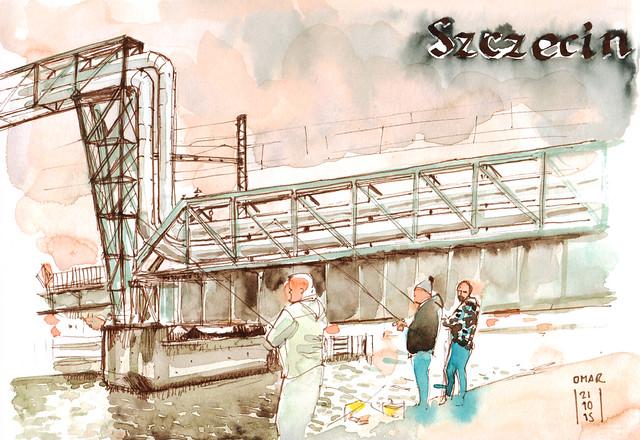Szczecin Fischermen am Oder