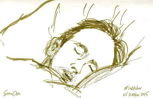 Sleeping Michael inktober2