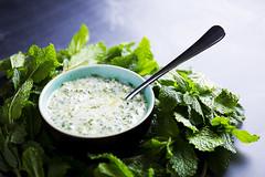 Simple mint yoghurt