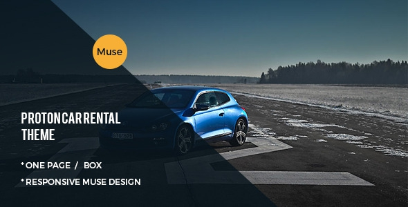 ThemeForest Proton Car Rental and Sales Muse Template