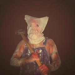 #Halloween #selfie! #happyhalloween #redneck #sackmask #murderer #sledgehammer