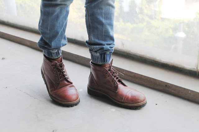 King Fahad Scale - OOTD Indo Gathering - Men Fashion Style Blogger Indonesia - GUTENINC Brown Boots (10)