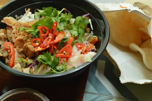 Pork & prawn salad