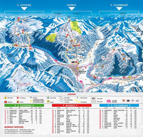 Alta Valtellina - mapa sjezdovek