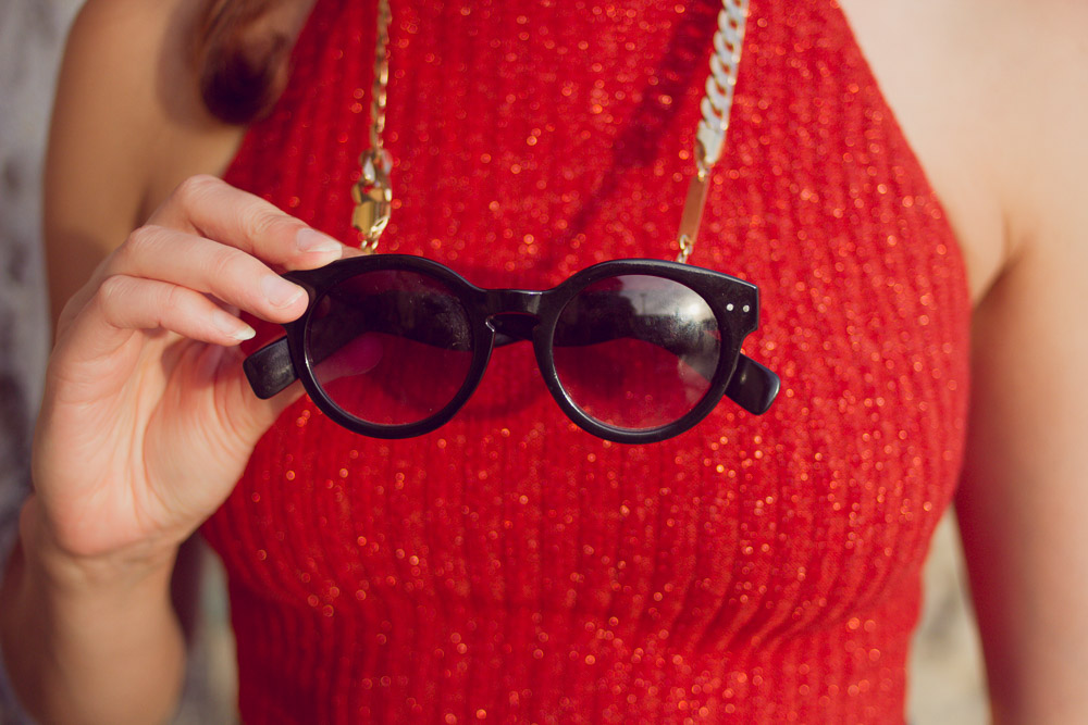 asos sunglasses on frame chain summer