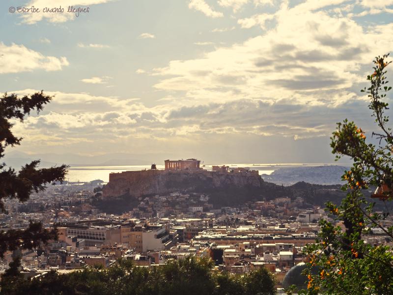 Vista de la Acrópolis desde la Colina Licabeto
