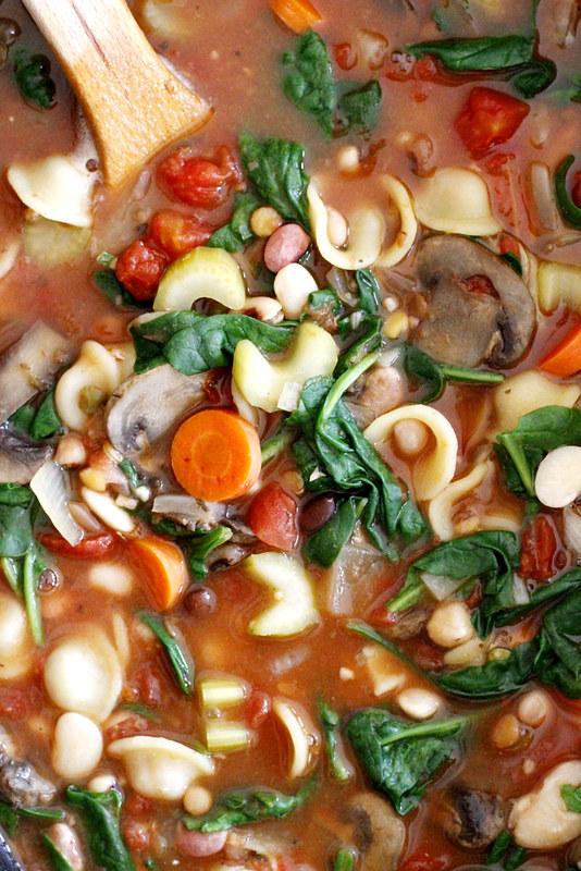 Hearty 13-Bean Slow Cooker Minestrone   girlversusdough.com @girlversusdough
