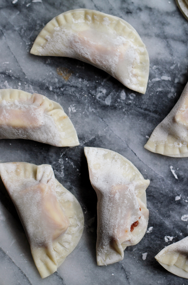 Apple Butter and Brie Potstickers