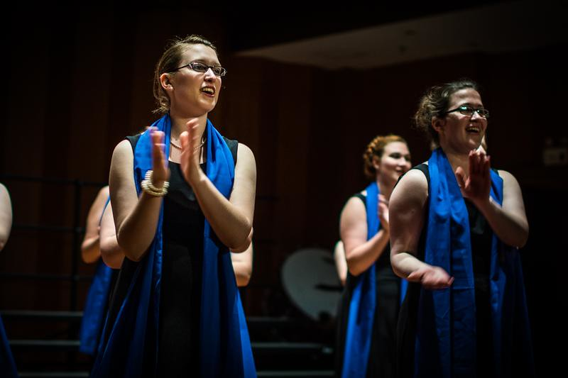 Lycoming College Choir performs in He Luting Concert Hall in Shanghai