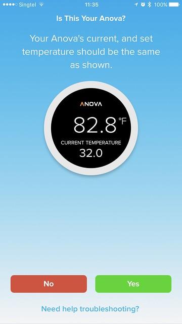 Anova Wi-Fi iOS App - Bluetooth Setup #2