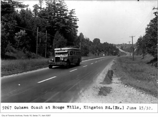 Oshawa coach, at Rouge Hills, Kingston Road
