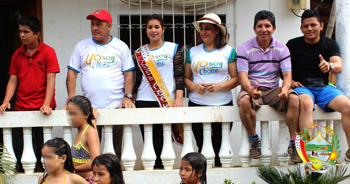 Alcalde de Chone participó de eventos de carnaval