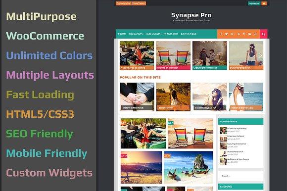 Synapse Pro v2.0.0 - WordPress Magazine Themes