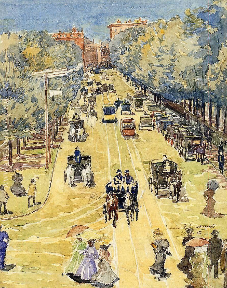 Charles Street, Boston by Maurice Prendergast - circa 1895