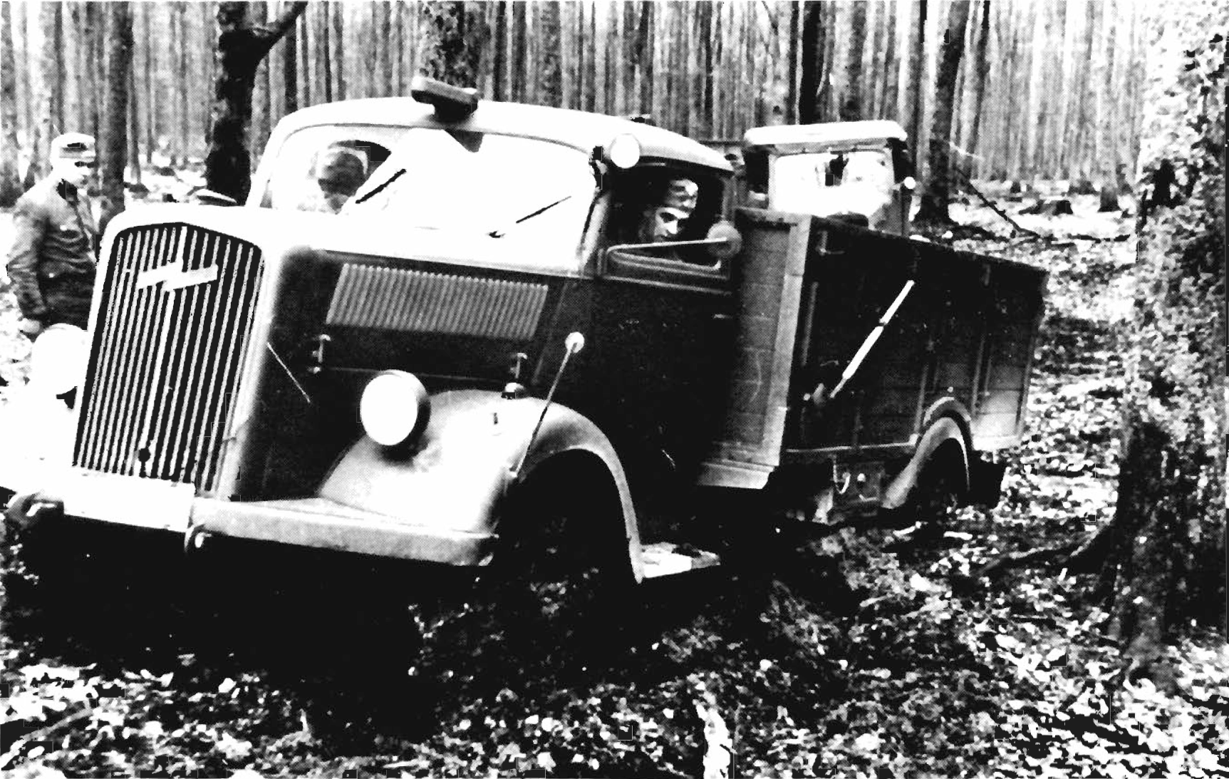 Image result for blown up opel truck WWII