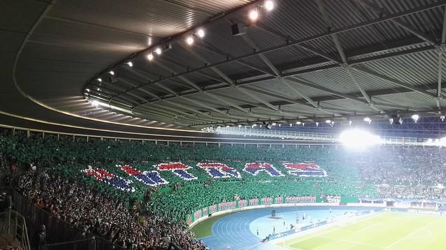 Die Ultras-Choreo für Rapid - Schachtar Donezk