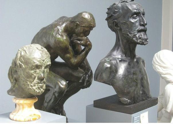 Roban busto de Rodin en museo de Copenhague