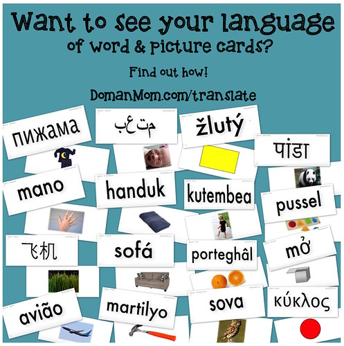 Want to see your language of word & picture cards? Find out how!