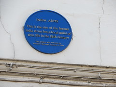 Photo of India Arms Inn blue plaque