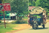 Four-wheeled transport, on the road from Phnom Penh to Siem Reap, Cambodia, 2015