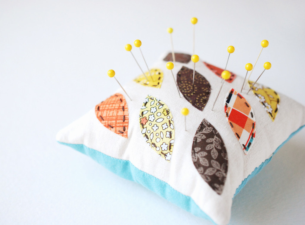 Applique Leaf Pincushion