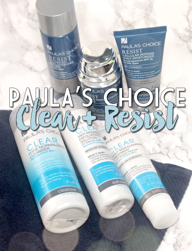 my Paula's Choice routine Clear Acne Kit + Resist