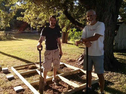 20150919. Building the new chicken coop.