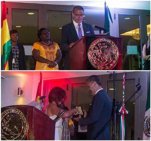 Ceremonia de condecoración al Sr. Subhi Accad, Cónsul Honorario de México en Ghana