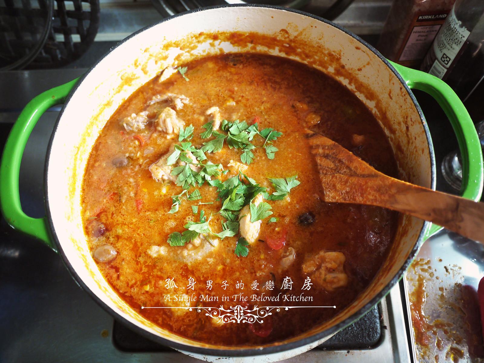 孤身廚房-蕃茄橄欖燴雞肉佐番紅花香米36