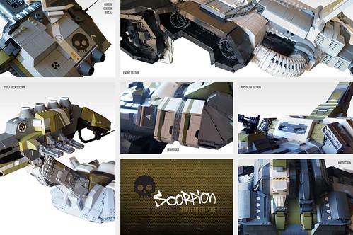 EVE online's custom Scorpion battleship, details | SHIPtember 2015