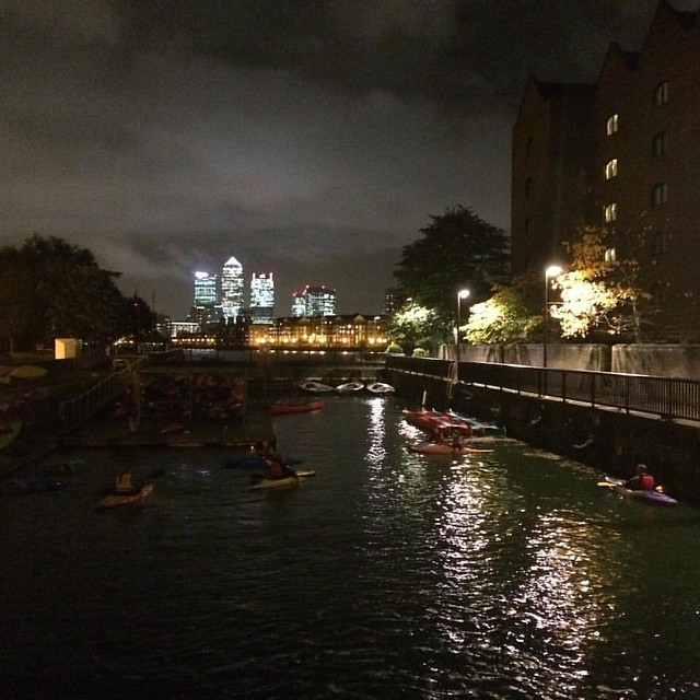 Kayaking course at shadwell basin. Fantastic fun!
