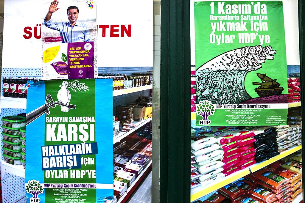HDP posters in Neustadt--Leipzig