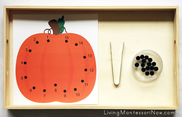 Pumpkin Dot Counting and Fine-Motor Activity