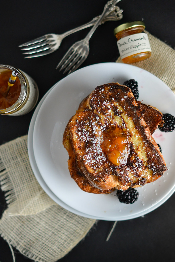 Mascarpone, Peach, and Chamomile Stuffed French Toast   Things I Made Today