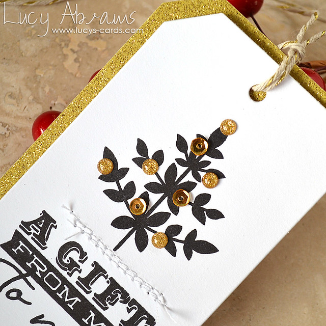 Tiny Tree Gift Tag 2 by Lucy Abrams