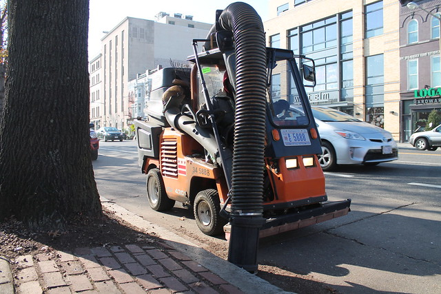 Industrial vacuums in action, as seen in Washington DC.