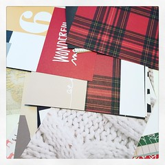 Tartan!  Red tartan! And Cables!!! @aliedwardsdesigninc how did you know my theme this year??!!!  :heart:️:christmas_tree:#memorykeeping #makestuff #decemberdaily2015 #decemberdaily #